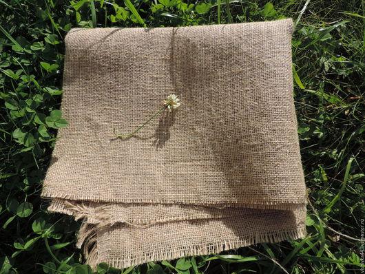 Шитье ручной работы. Ярмарка Мастеров - ручная работа. Купить ткань лен мешковинный. Handmade. Лен, натуральный лен