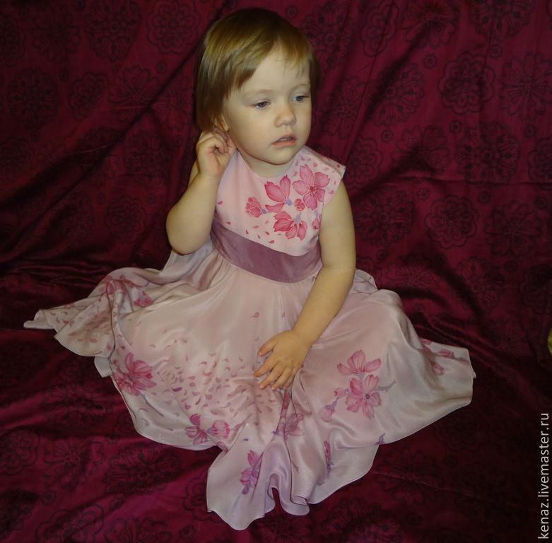 Clothes for Girls handmade. Livemaster - handmade. Buy Dress for girl 'Sakura'.Pink, dress for girl