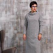 Одежда handmade. Livemaster - original item Floor-length knitted dress, Jersey. Handmade.
