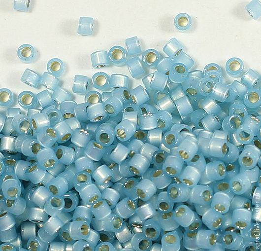 Для украшений ручной работы. Ярмарка Мастеров - ручная работа. Купить Delica DB-628 Silver Lined Light Aqua Alabaster делика японский бисер. Handmade.