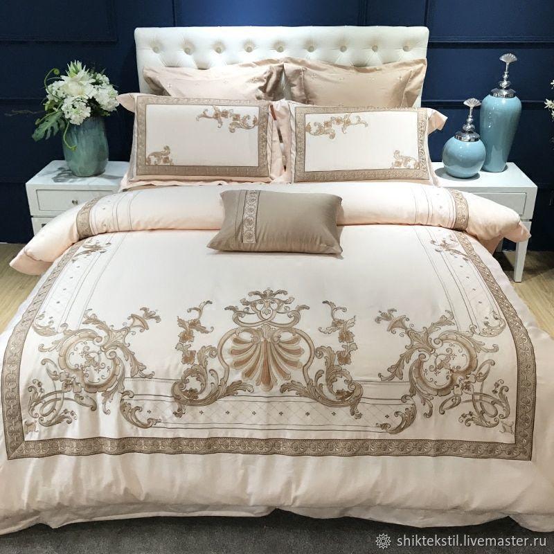 Свадебное постельное белье с вышивкой из египетского сатина, Подарки на свадьбу, Самара, Фото №1