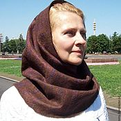 Аксессуары handmade. Livemaster - original item Scarf-Snood felted
