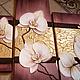 """Картины цветов ручной работы. Объемная фреска """"Девять белых орхидей 2"""". Floritolla. Ярмарка Мастеров. Фреска"""