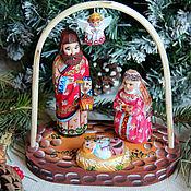 Подарки к праздникам ручной работы. Ярмарка Мастеров - ручная работа Рождество (рождественский вертеп). Handmade.
