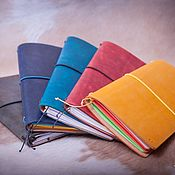 Канцелярские товары handmade. Livemaster - original item Leather notebook with removable notebooks