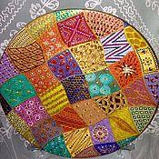Тарелки ручной работы. Ярмарка Мастеров - ручная работа Тарелка декоративная Страсти по пэчворку. Handmade.
