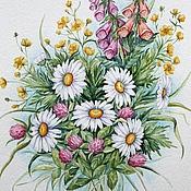 """Картины и панно ручной работы. Ярмарка Мастеров - ручная работа Рисунок """"Цветы полевые"""" акварель. Handmade."""