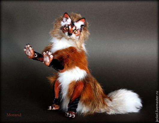 Игрушки животные, ручной работы. Ярмарка Мастеров - ручная работа. Купить Тотемная лиса-оборотень. Handmade. Рыжий, красный, ткань