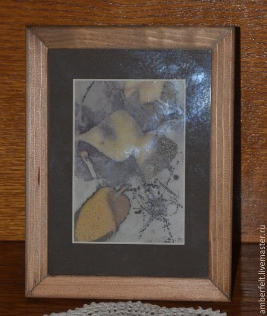 """Натюрморт ручной работы. Ярмарка Мастеров - ручная работа. Купить Картина в эко стиле (экопринт)  """"Осень пришла..."""". Handmade."""