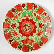 Посуда ручной работы. Ярмарка Мастеров - ручная работа Лета теплые дни. Декоративная тарелка.. Handmade.