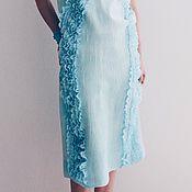 """Одежда ручной работы. Ярмарка Мастеров - ручная работа Валяное платье """"Мятные рюши"""". Handmade."""