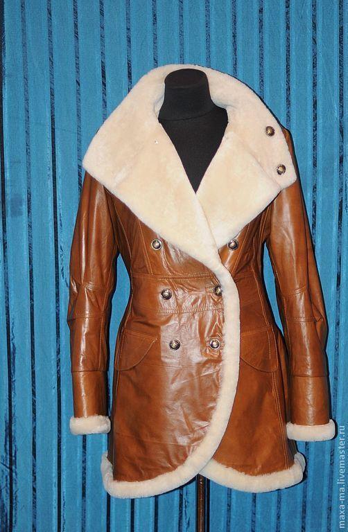 Верхняя одежда ручной работы. Ярмарка Мастеров - ручная работа. Купить Дубленочка кожаная. Handmade. Коричневый, авторская работа