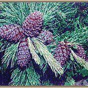 Картины и панно handmade. Livemaster - original item Tapestry bead SIBERIAN BOUQUET. Appliances beerothites.. Handmade.