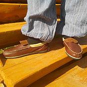 Обувь ручной работы. Ярмарка Мастеров - ручная работа МОКАСИНЫ. Модель 2.. Handmade.