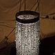 Освещение ручной работы. люстра из бисера и бусин Водопад. Mantipa 123. Интернет-магазин Ярмарка Мастеров. Снег, стеклянные бусины