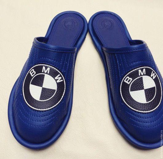 """Обувь ручной работы. Ярмарка Мастеров - ручная работа. Купить Кожаные тапочки """" BMW"""". Handmade. Кожаные тапочки, эва"""