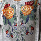 """Одежда ручной работы. Ярмарка Мастеров - ручная работа Жакет с вышивкой """"Розы"""".. Handmade."""