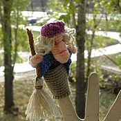 Куклы и игрушки ручной работы. Ярмарка Мастеров - ручная работа Баба Яга, пальчиковая. Handmade.