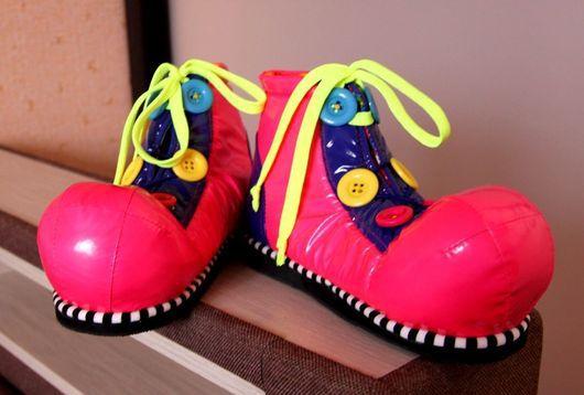 Карнавальные костюмы ручной работы. Ярмарка Мастеров - ручная работа. Купить Клоунские ботинки. Handmade. Ботинки, костюм для аниматоров