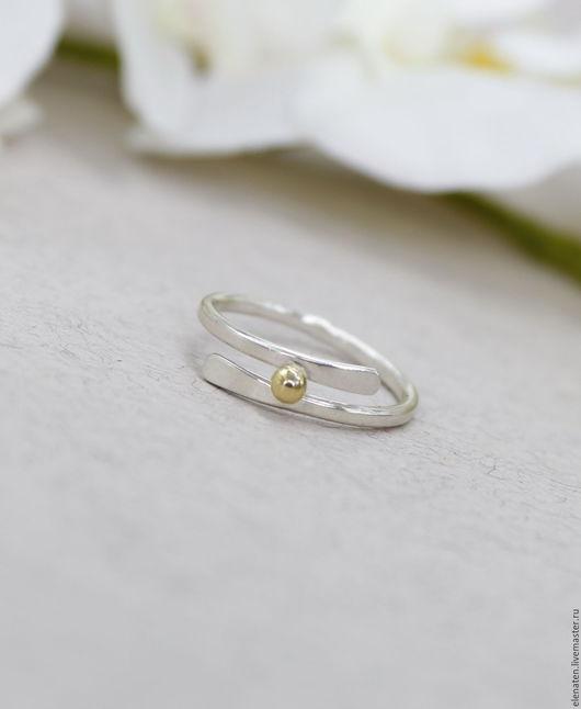 Тонкое изящное серебряное кольцо