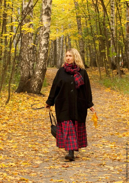 Верхняя одежда ручной работы. Ярмарка Мастеров - ручная работа. Купить Пальто со спущенным рукавом из шерсти art.C1. Handmade.