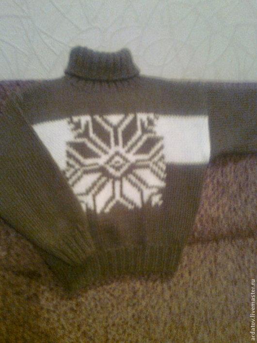 Одежда для мальчиков, ручной работы. Ярмарка Мастеров - ручная работа. Купить Пуловер для мальчика. Handmade. Хаки, свитер спицами