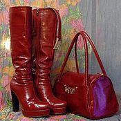 Обувь ручной работы. Ярмарка Мастеров - ручная работа Сапоги демисизонные. Handmade.