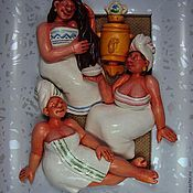 """Картины и панно ручной работы. Ярмарка Мастеров - ручная работа """"Банный день""""-2. Handmade."""