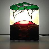 Для дома и интерьера handmade. Livemaster - original item The Savannah lamp Stained glass lamp handmade. Handmade.