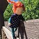 Вальдорфская игрушка ручной работы. Ярмарка Мастеров - ручная работа. Купить Пеппи Длинный Чулок, вальдорфская куколка. Handmade. Рыжий