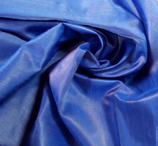 Текстиль, ковры ручной работы. Ярмарка Мастеров - ручная работа. Купить Тафта сине-серая для штор. Handmade. Синий