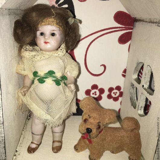 Винтажные куклы и игрушки. Ярмарка Мастеров - ручная работа. Купить антикварная mignonette куколка 13 см спящие глазки. Handmade.