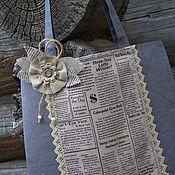"""Сумки и аксессуары ручной работы. Ярмарка Мастеров - ручная работа Льняная эко-сумка """"Свежая пресса"""". Handmade."""