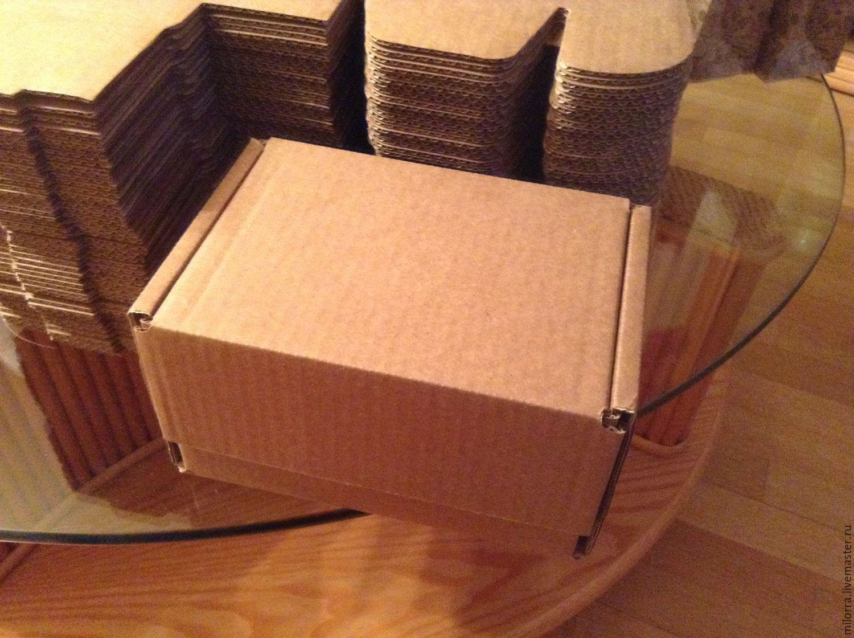Коробка 17х12х10 см, самосборная, крафт, Коробки, Москва, Фото №1