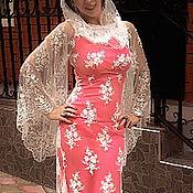 Одежда handmade. Livemaster - original item long lace dress with a train