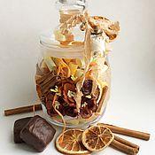 Подарки к праздникам ручной работы. Ярмарка Мастеров - ручная работа Шоколад с апельсином и корицей Баночка пожеланий. Handmade.