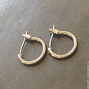 Материалы для творчества handmade. Livemaster - original item Earrings with English lock art. 1-1A brass with dark GLA. Handmade.