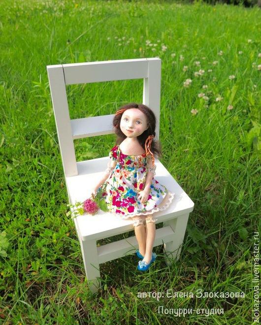 Человечки ручной работы. Ярмарка Мастеров - ручная работа. Купить девочка Летняя. Handmade. Кукла ручной работы, кукольная миниатюра