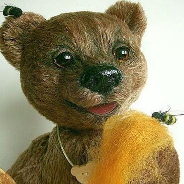 """Куклы и игрушки ручной работы. Ярмарка Мастеров - ручная работа мишка """"ПОТАПКА"""". Handmade."""