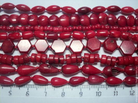 Аппликации, вставки, отделка ручной работы. Ярмарка Мастеров - ручная работа. Купить Коралл (8 форм).. Handmade. Красный коралл