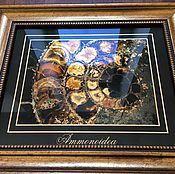 Картины и панно ручной работы. Ярмарка Мастеров - ручная работа Картина на стекле Аммонит. Handmade.