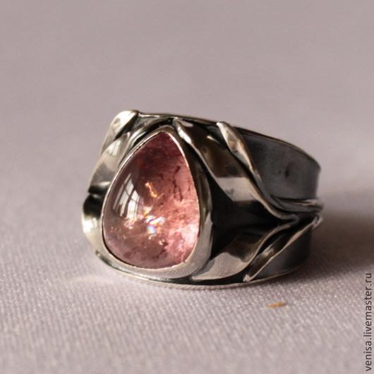 Кольца ручной работы. Ярмарка Мастеров - ручная работа. Купить Кольцо, серебро, турмалин. В розовом цвете. Handmade.