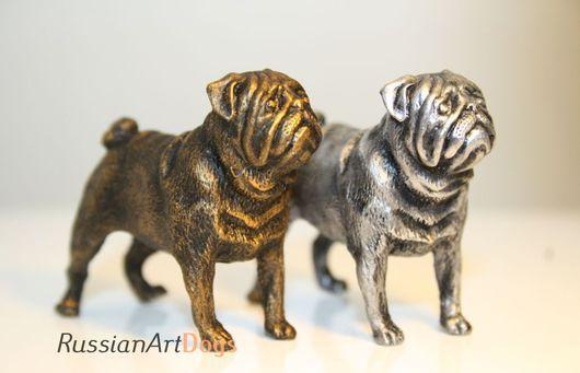 Статуэтки ручной работы. Ярмарка Мастеров - ручная работа. Купить МОПС - статуэтка (оловянная миниатюрная фигурка собаки). Handmade. Мопс