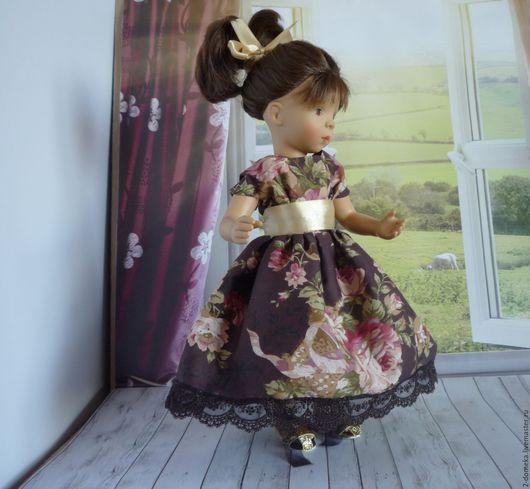 """Одежда для кукол ручной работы. Ярмарка Мастеров - ручная работа. Купить Платье """" Розы"""" для кукол 32-34 см. Паолок, минуш и т.п.. Handmade."""