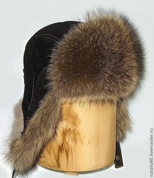 Шапки ручной работы. Ярмарка Мастеров - ручная работа. Купить Мужская шапка ушанка, мех енот. Артикул - 302. Handmade.