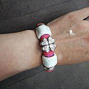 """Украшения ручной работы. Ярмарка Мастеров - ручная работа """"Клевер"""" - кожаный браслет Регализ. Handmade."""