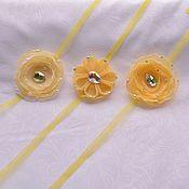 """Работы для детей, ручной работы. Ярмарка Мастеров - ручная работа Повязка на голову для фотосессии новорожденной """"Лимонная"""". Handmade."""