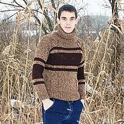 Одежда handmade. Livemaster - original item Men`s chunky knitted sweater. Handmade.