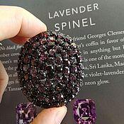 Украшения handmade. Livemaster - original item Purple spinel pendant brooch from Burma. Handmade.