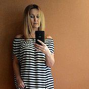 Одежда ручной работы. Ярмарка Мастеров - ручная работа Платье в морском стиле. БОХО платье. Handmade.
